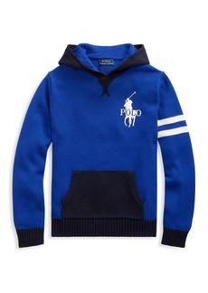 Ralph Lauren Little Boy's & Boy's Logo Knit Hoodie