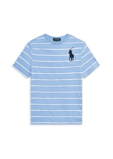 Ralph Lauren Little Boy's & Boy's Logo Striped T-Shirt