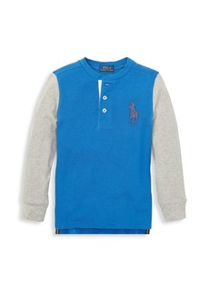 Ralph Lauren Little Boy's & Boy's Long-Sleeve Cotton Henley