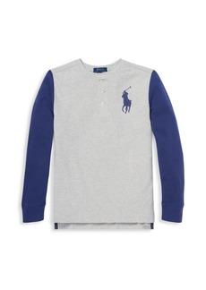 Ralph Lauren Little Boy's & Boy's Long-Sleeve Cotton T-Shirt