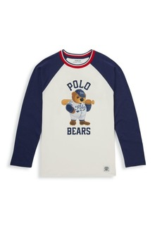 Ralph Lauren Little Boy's & Boy's Long-Sleeve Graphic Baseball Tee
