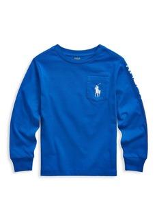 Ralph Lauren Little Boy's & Boy's Long-Sleeve Jersey Cotton T-Shirt