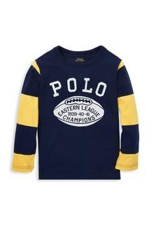 Ralph Lauren Little Boy's & Boy's Long Sleeve Polo Graphic Tee