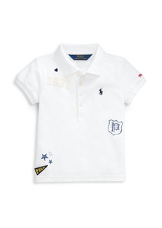 Ralph Lauren Little Girl's & Girl's Novelty Polo Top