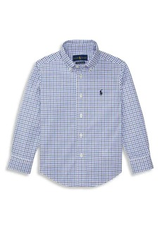 Ralph Lauren Little Boy's & Boy's Plaid Button-Down Shirt