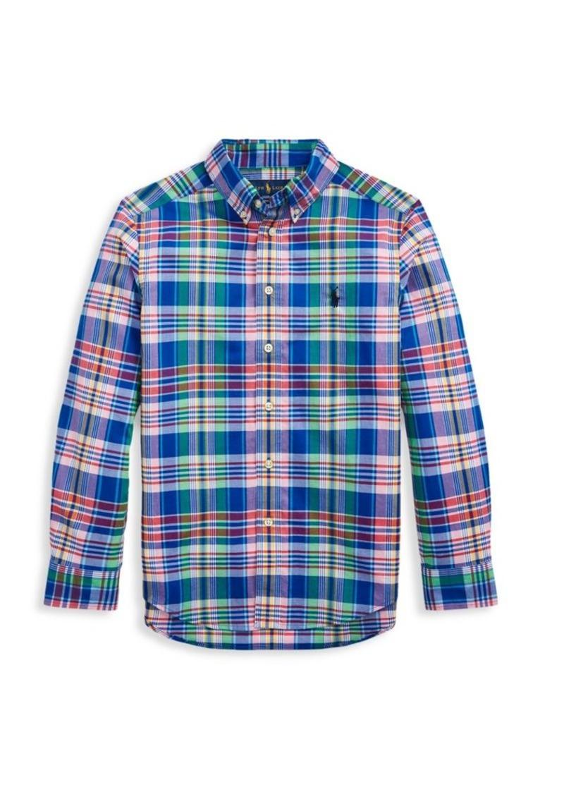 Ralph Lauren Little Boy's & Boy's Plaid Cotton Button-Down Shirt