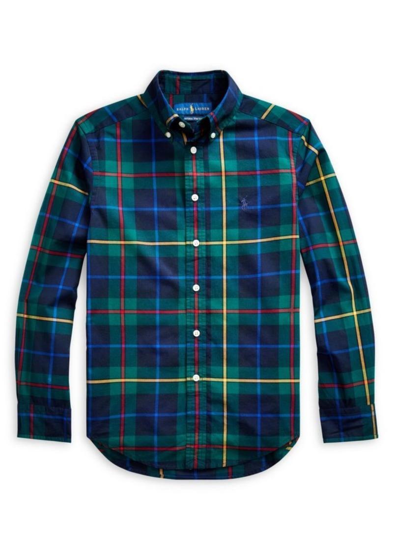 Ralph Lauren Little Boy's & Boy's Plaid Cotton Poplin Shirt