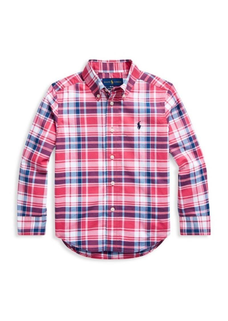Ralph Lauren Little Boy's & Boy's Plaid Cotton Shirt