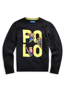 Ralph Lauren Little Boy's & Boy's Polo Bear Wool Sweater