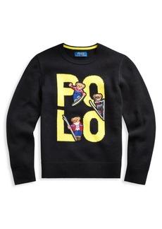 Ralph Lauren Little Boy's & Boy's Polo Bear Wool Sweater