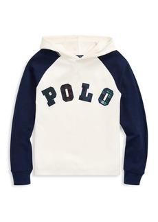 Ralph Lauren Little Boy's & Boy's Polo Tartan Logo Hoodie
