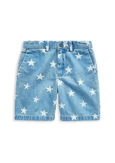 Ralph Lauren Little Boy's & Boy's Preppy Star-Print Jeans Shorts
