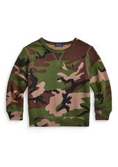 Ralph Lauren Little Boy's & Boy's Printed Fleece Sweatshirt