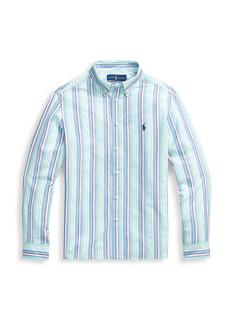 Ralph Lauren Little Boy's & Boy's Seersucker Striped Shirt