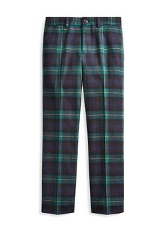 Ralph Lauren Little Boy's & Boy's Slim-Fit Plaid Wool Pants