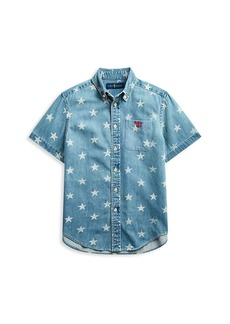 Ralph Lauren Little Boy's & Boy's Star Print Denim Shirt