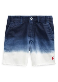 Ralph Lauren Little Boy's & Boy's Straight-Fit Dip-Dyed Cotton Chino Shorts