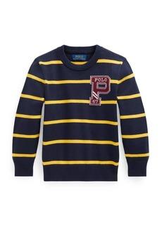 Ralph Lauren Little Boy's & Boy's Striped Combed Cotton Sweater