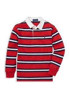 Ralph Lauren Little Boy's & Boy's Striped Cotton Rugby Shirt