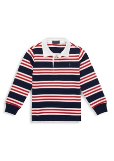 Ralph Lauren Little Boy's & Boy's Striped Cotton Rugby Shirt