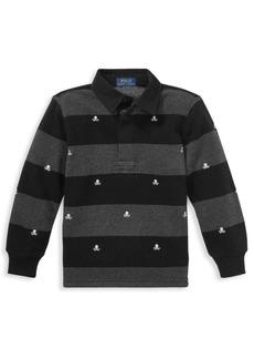 Ralph Lauren Little Boy's & Boy's Striped Fleece Rugby Shirt