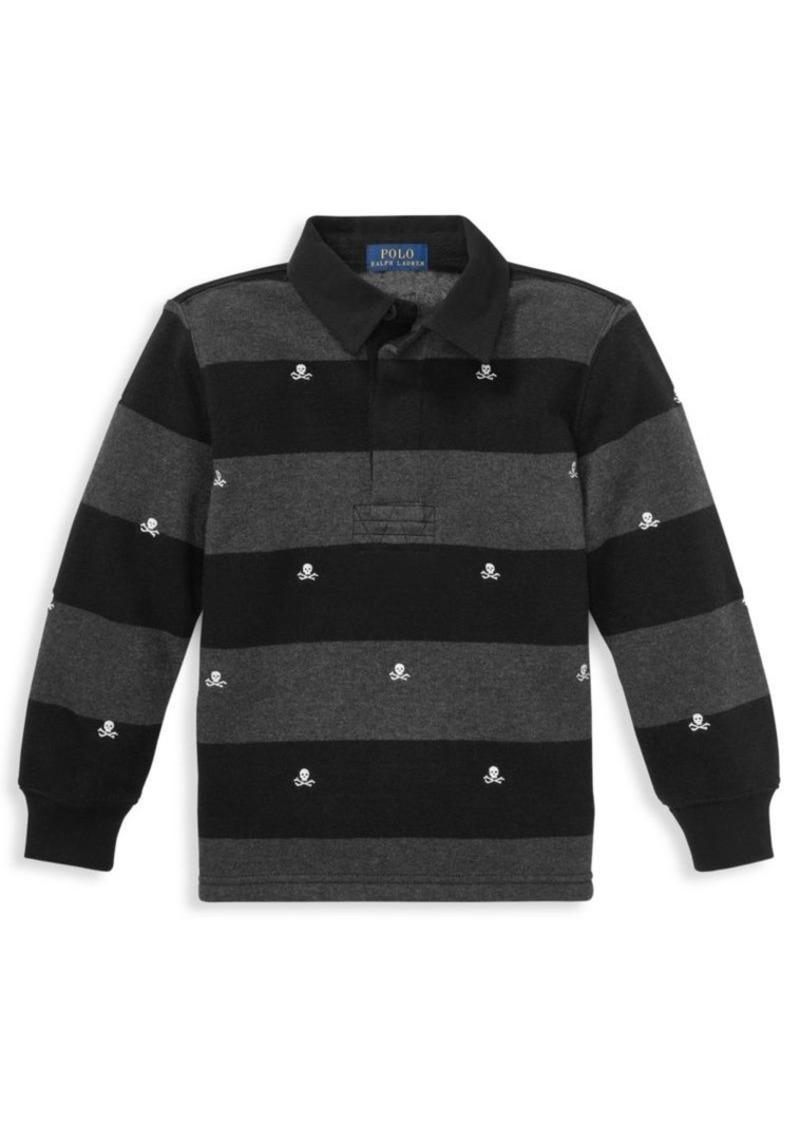20b316984 Ralph Lauren Little Boy s   Boy s Striped Fleece Rugby Shirt