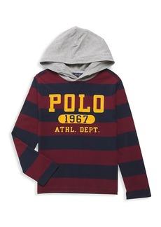 Ralph Lauren Little Boy's & Boy's Striped Jersey Hooded Top