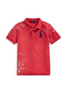 Ralph Lauren Little Boy's & Boy's Sunrise Graffiti Splatter Polo