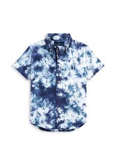 Ralph Lauren Little Boy's & Boy's Tie-Dye Cotton Poplin Shirt