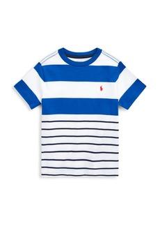 Ralph Lauren Little Boy's & Boy's Two-Tone Stripe Jersey T-Shirt