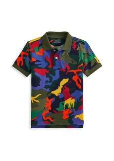 Ralph Lauren Little Boy's & Boy's Vibrant Camouflage Polo Shirt