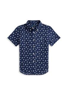 Ralph Lauren Little Boy's and Boy's Angelfish Short-Sleeve Shirt
