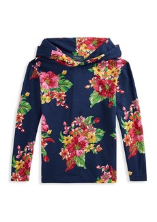 Ralph Lauren Little Boy's and Boy's Floral Cotton Hoodie