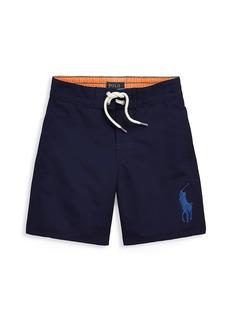 Ralph Lauren Little Boy's and Boy's Logo Swim Trunks