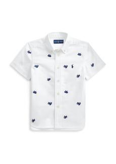 Ralph Lauren Little Boy's and Boy's Octopus Motif Short-Sleeve Shirt
