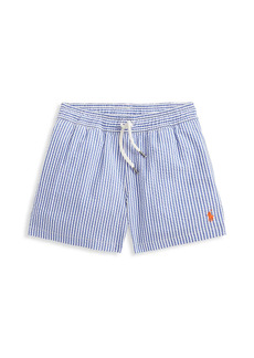 Ralph Lauren Little Boy's and Boy's Stripe Seersucker Swim Trunks