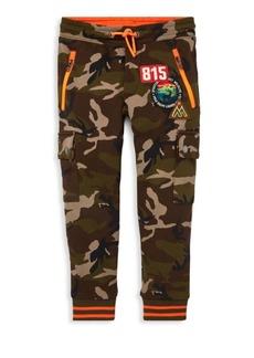 Ralph Lauren Little Boy's Army Print Patch Jogging Pants