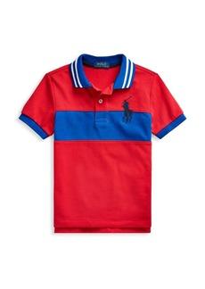Ralph Lauren Little Boy's Big Pony Cotton Mesh Polo Shirt