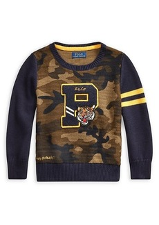 Ralph Lauren Little Boy's Camo Cotton Sweater