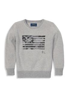 Ralph Lauren Little Boy's Camo Flag Sweater