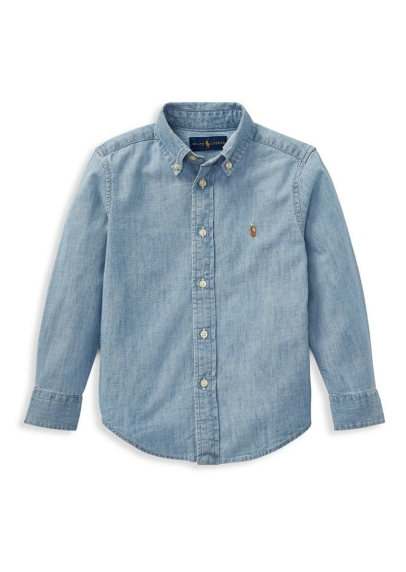 Ralph Lauren Little Boy's & Boy's Chambray Button Down Shirt
