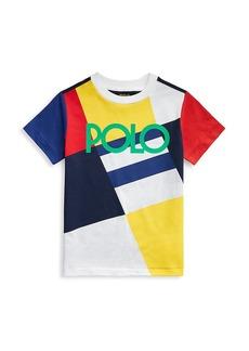 Ralph Lauren Little Boy's Colorblock Logo T-Shirt