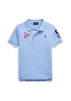 Ralph Lauren Little Boy's Embroidered Cotton Polo Shirt
