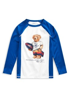 Ralph Lauren Little Boy's Graphic Raglan-Sleeve Rashguard