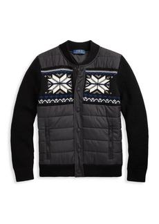 Ralph Lauren Little Boy's Hybrid Knit Puffer Sweater Jacket