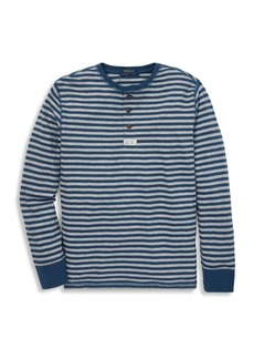 Ralph Lauren Little Boy's Logo Cotton Henley