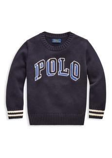 Ralph Lauren Little Boy's Long-Sleeve Cotton Sweater