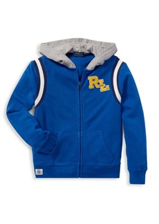 Ralph Lauren Little Boy's Novel Zip-Front Hoodie