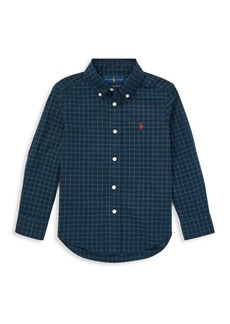 Ralph Lauren Little Boy's Plaid Poplin Shirt
