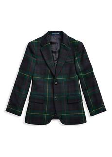 Ralph Lauren Little Boy's Polo 1 Plaid Wool Jacket